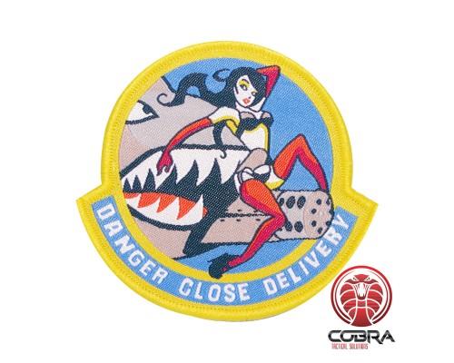 A-10 Warthog Thunderbolt Danger Close Delivery sexy girl Gele Geborduurde militaire Patch met klittenband