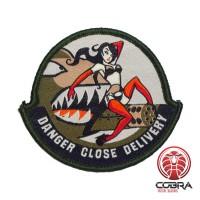 A-10 Warthog Thunderbolt Danger Close Delivery sexy girl Groene Geborduurde militaire Patch met klittenband
