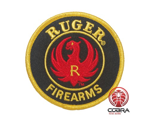 Ruger Firearms geborduurde rode patch | Strijkpatches | Military Airsoft
