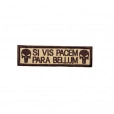 Si Vis Pacem, para Bellum Punisher Geborduurde bruine patch met klittenband