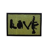 Love AK Geborduurde patch met klittenband