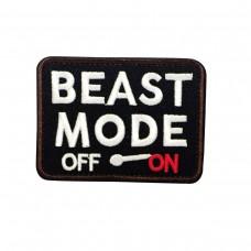 Beast Mode Off / On Geborduurde patch met klittenband