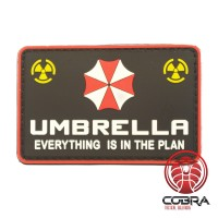 3D PVC Patch Umbrella Corporation Logo - Everything is in the plan - Resident Evil met klittenband