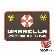 Umbrella Corporation Logo - Everything is in the plan - Resident Evil 3D PVC film Patch met klittenband