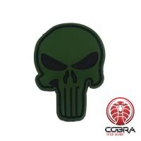 3D PVC embleem The Punisher Groen Large met klittenband