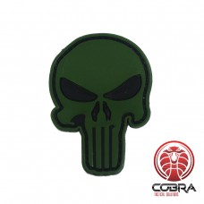 3D PVC embleem The Punisher Groen Large met klittenband