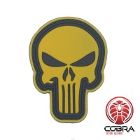 3D PVC embleem The Punisher Lichtbruin Midium met klittenband