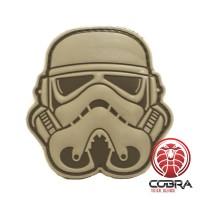 3D PVC patch Star Wars Stormtrooper hoofd grijs met klittenband