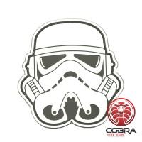 3D PVC patch Star Wars Stormtrooper hoofd wit met klittenband