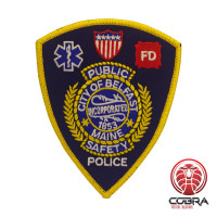 City Of Belfast Maine Police geborduurde patch | Strijkpatches | Military Airsoft