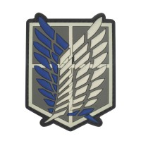 Shingeki No Kyojin Attack Titan Recon Corps PVC Patch met klittenband