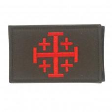Jerusalem Cross Knights Templar Geborduurde patch met klittenband