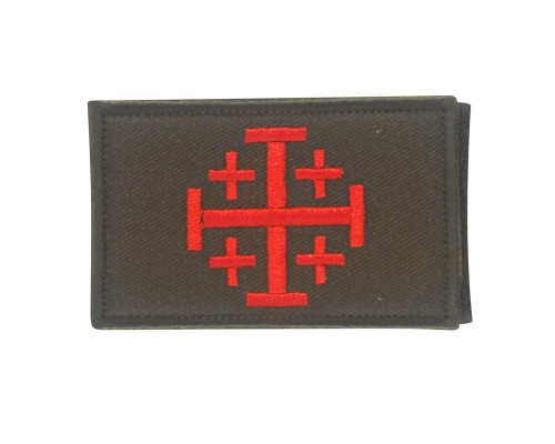 Jerusalem Cross Knights Templar Geborduurde patch met klittenband