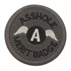 Asshole Merit Badge with wings met klittenband