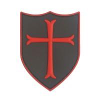 Kruisvaarder Kruis PVC Patch met klittenband