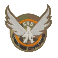 The Division SHD Extremis Malis Extrema Remedia Camo Geborduurde patch met klittenband