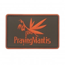 Praying Mantis Metal Gear PVC Patch rood met klittenband