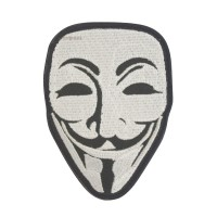 Anonymous Guy Fawkes Masker Geborduurde patch met klittenband