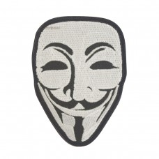 Anonymous Guy Fawkes Masker Geborduurde patch met klittenband