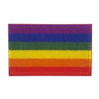 Gay Pride LBGTQ Rainbow Flag Geborduurde patch met klittenband