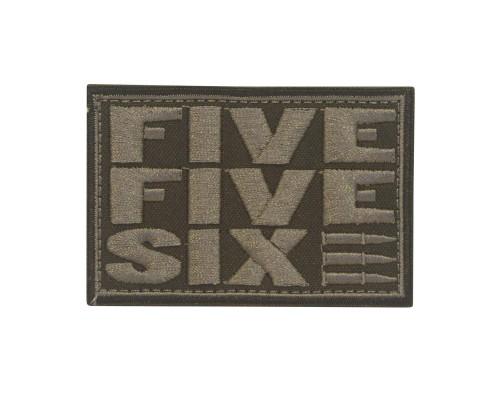 Five Five Six FFS Military Geborduurde patch met velcro