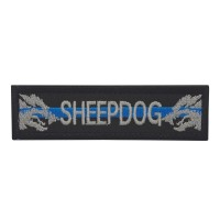 Sheepdog Blue Line Police K9 Geborduurde patch met klittenband