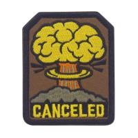 Canceled Fallout Geborduurde Militaire Bruine Patch met klittenband