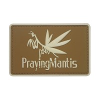 Praying Mantis Metal Gear PVC Patch bruin met klittenband