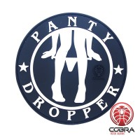 Panty Dropper Funny Sexy Motivatie PVC Patch met velcro