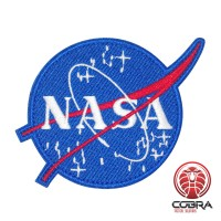 NASA geborduurde Patch Airsoft Cosplay Patch met klittenband