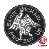 Saint Michael Protect US Geborduurde motiverende Patch met klittenband