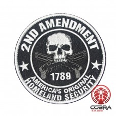 2ND Amendment America's Original Homeland Security Geborduurde militaire Patch met klittenband