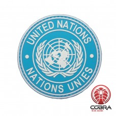 United Nations UN VN blauwe motiverende PVC Patch met klittenband