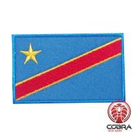 Vlag Congo geborduurde militaire patch met klittenband