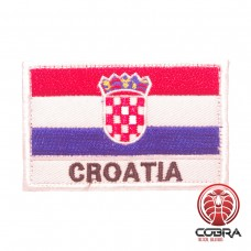 Vlag Kroatië geborduurde militaire patch met klittenband