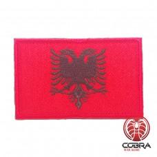 Vlag Albanië geborduurde militaire patch met klittenband