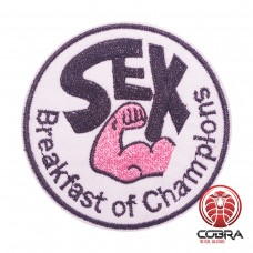 SEX Breakfast of champions geborduurde patch | Strijkpatches | Military Airsoft