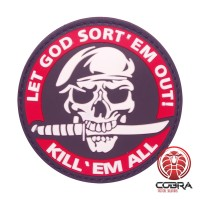 Let God Sort 'em out! Kill 'em all militaire rode motiverende PVC Patch met klittenband