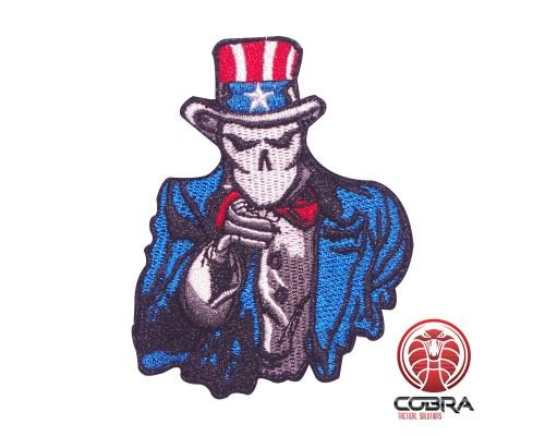 We want you skelet US geborduurde motivational patch met velcro