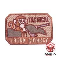 Tactical Trunk Monkey bruine geborduurde motivational patch met velcro