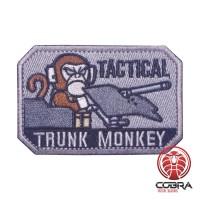 Tactical Trunk Monkey groene geborduurde motiverende patch met velcro