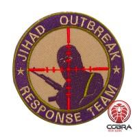 JIHAD OUTBREAK Response Team geborduurde groen zwarte patch met velcro