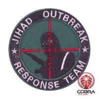 JIHAD OUTBREAK Response Team geborduurde groene patch met velcro