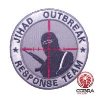 JIHAD OUTBREAK Response Team geborduurde grijze patch met velcro