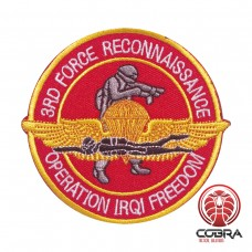 3RD Force Reconnaissance Operation IRQ Freedom geborduurde rode patch met velcro
