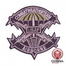 Combat weather team USAF Airbone geborduurde militaire patch met velcro