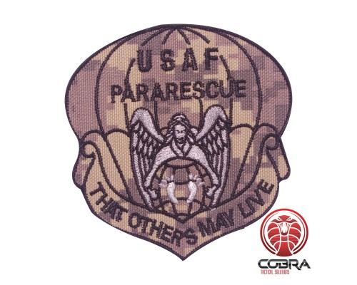 USAF Pararescue That others may live geborduurde militaire patch digital camo met velcro