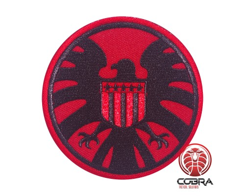 AVENGERS S.H.I.E.L.D. PATCH USA flag rode geborduurde film patch met velcro