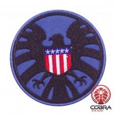 AVENGERS S.H.I.E.L.D. PATCH USA vlag blauwe geborduurde film patch met velcro