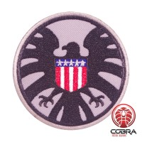 AVENGERS S.H.I.E.L.D. PATCH USA flag grijze geborduurde film patch met velcro